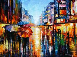 Leonid Afremov - Night Umbrellas