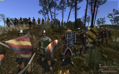 soldats dans mount and blade