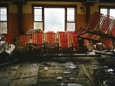 Chaises de piscine, Grossinger's Catskill Resort and Hotel, Grossinger (USA New-York)