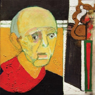 William-Utermolhen-Self-Portrait-with-Saw-1997-huile-sur-toile-35.5x45.5cm