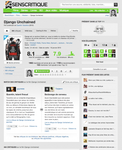 senscritique_Films - Django Unchained - SensCritique